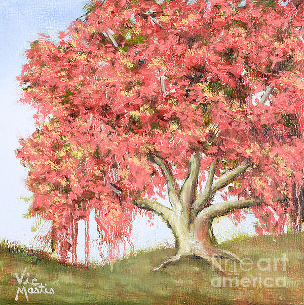 Tree Painting - Deco Tree by Vic  Mastis
