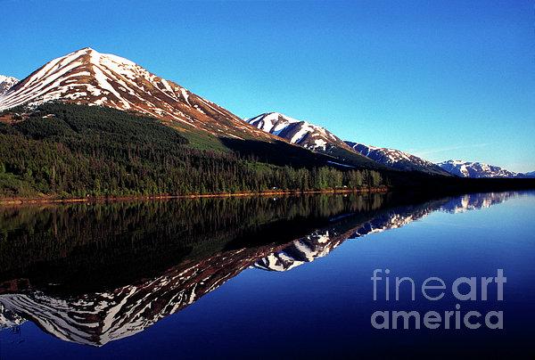 Alaska Photograph - Deep Blue Lake Alaska by Thomas R Fletcher