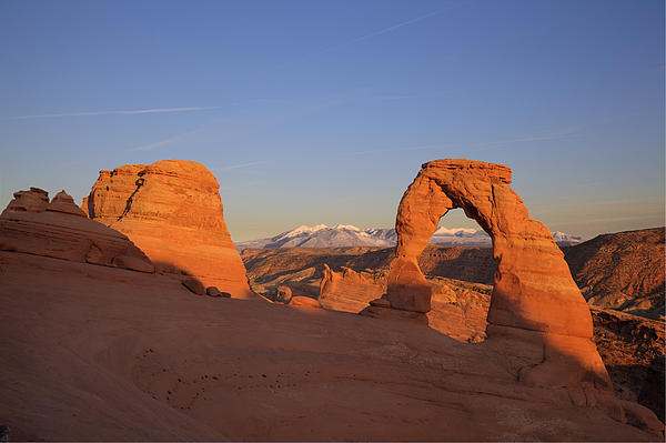 Rock Photograph - Delicate Arch At Sunset-2 by Alan Vance Ley