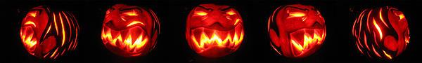 Pumpkin Sculpture - Demented Mister Ullman Pumpkin by Shawn Dall