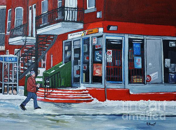 Montreal Stores Painting - Depanneur 7 Jours Verdun Quebec by Reb Frost