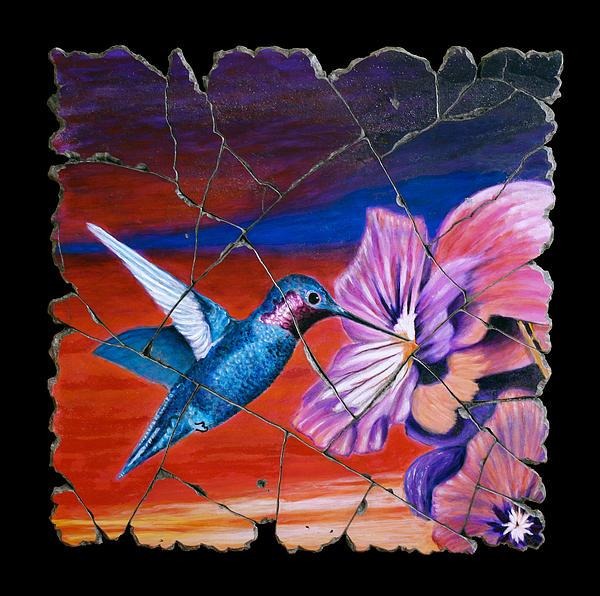 Hummingbird Painting - Desert Hummingbird by Steve Bogdanoff