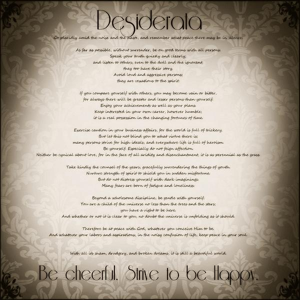 Desiderata Photograph - Desiderata - Vintage Sepia by Marianna Mills