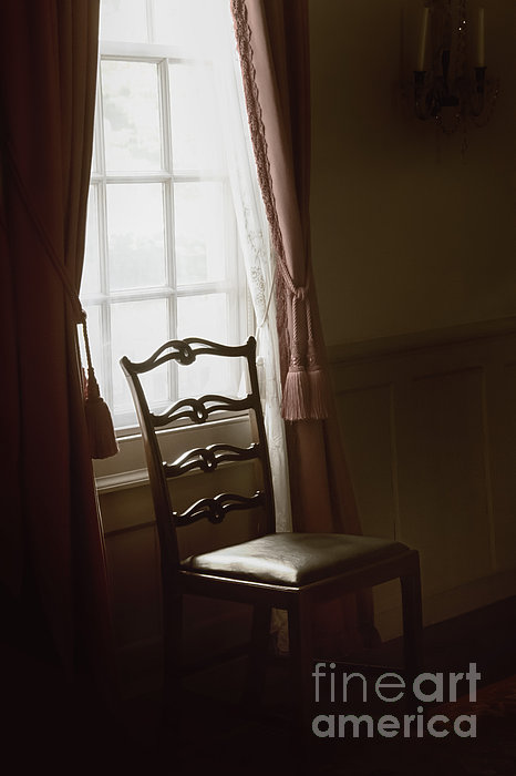 Chair Photograph - Dining Room Window by Margie Hurwich