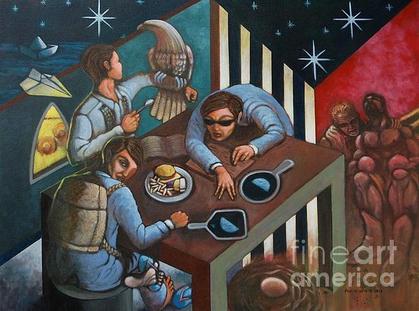 Filipino American Identity Crisis Painting - Diprosopus by Paul Hilario