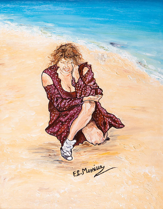 Beach Painting - Disperazione by Loredana Messina