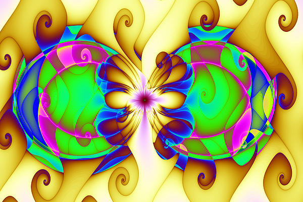 Abstract Digital Art - Disrupted Gnarls by Mark Eggleston