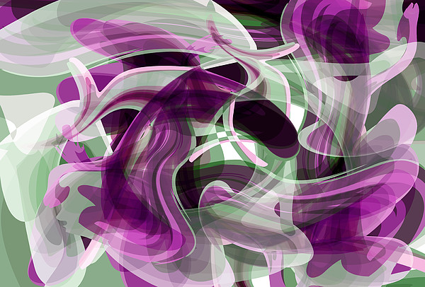 Abstract Digital Art - Diving Into Your Ocean 2 by Angelina Vick