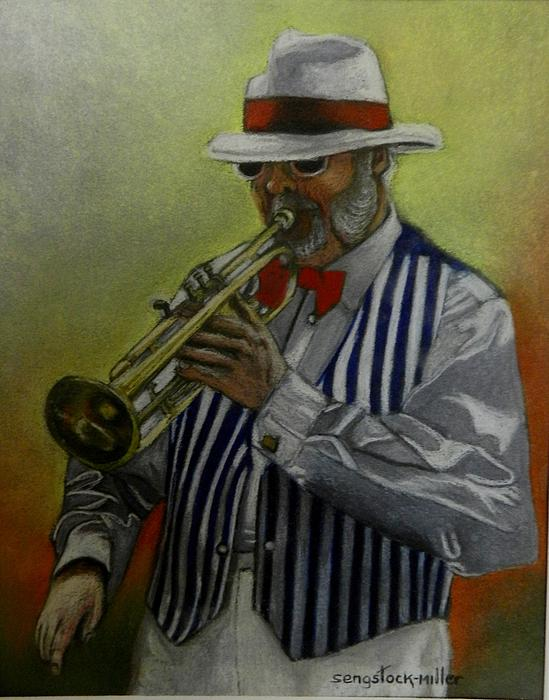 Pastels Pastel - Dixie Music Man by Sandra Sengstock-Miller