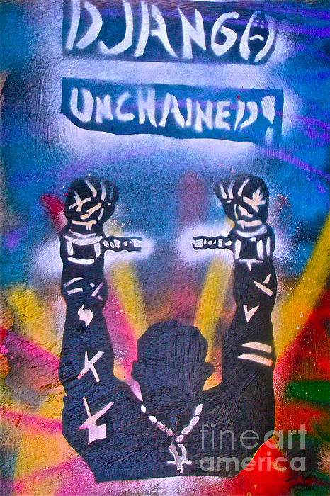 Hip Hop Painting - Django Unchained 2 by Tony B Conscious