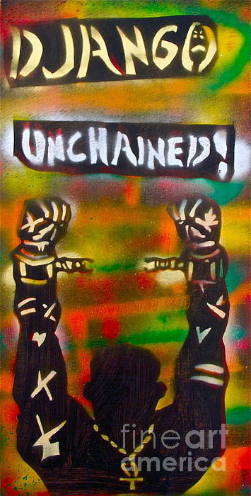 Hip Hop Painting - Django Unchained by Tony B Conscious