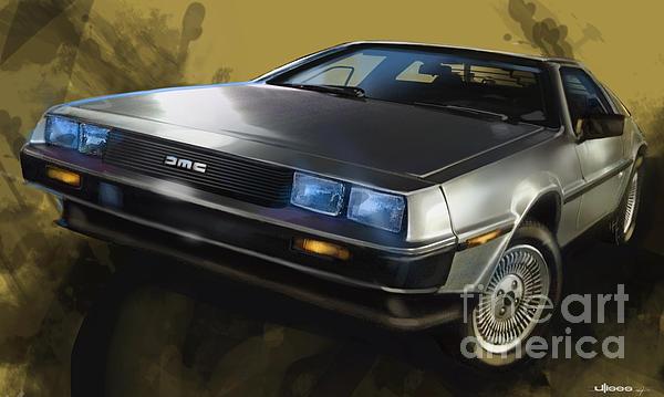 Classic Cars Digital Art - Dmc Sports Car by Uli Gonzalez
