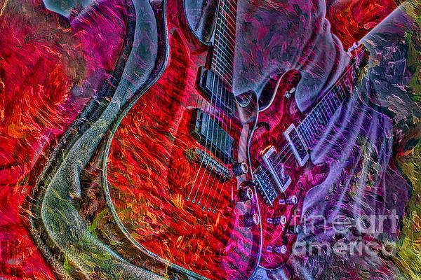 Acoustic Photograph - Do Not Let The Music Die Digital Guitar Art By Steven Langston by Steven Lebron Langston
