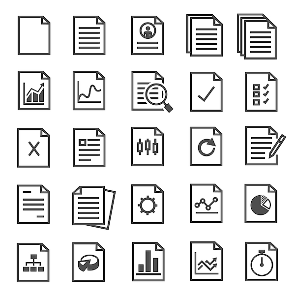 Document Icons Drawing by Joboy O G