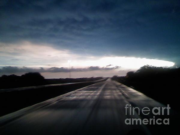 Tornado Photograph - Vanishing Point Highway by Edward Fuller
