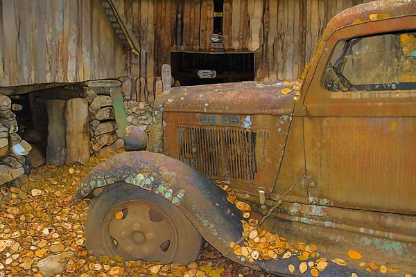 Dodge Truck Autumn Abstract Photograph - Dodge Truck Autumn Abstract by Dan Sproul