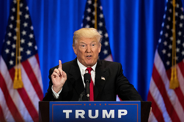 Donald Trump Gives Speech On Presidential Election In New York Photograph by Drew Angerer