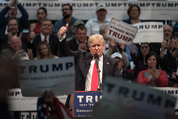 Donald Trump Holds Campaign Rally In North Carolina Photograph by Sean Rayford