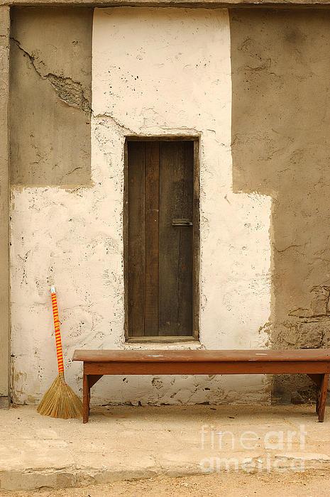 Door Photograph - Door And Broomstick by Micah May