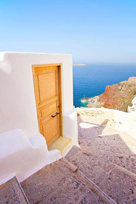 Santorini Photograph - Door Suddenly by Aiolos Greek Collections