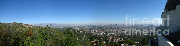 Digital Photograph - Downtown La From Griffith Observatory by Bedros Awak
