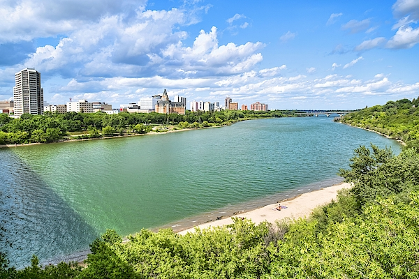 Downtown Saskatoon In Summer. Photograph by Dougall_Photography
