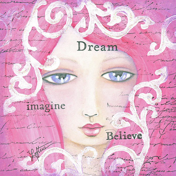 Pink Painting - Dream Girl by Joann Loftus