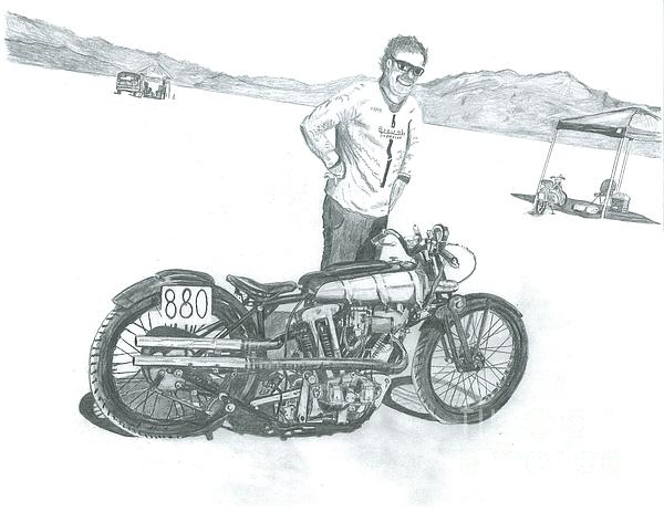 Bonneville Drawing - Dreamers by Stacey Becker