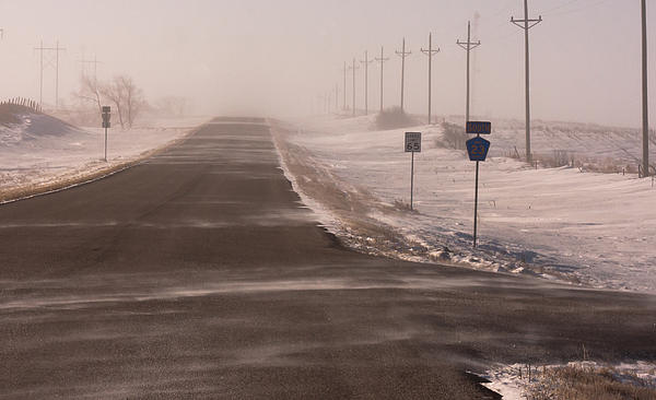 Drifting Snow Photograph - Drifting County 23 by Wayne Vedvig