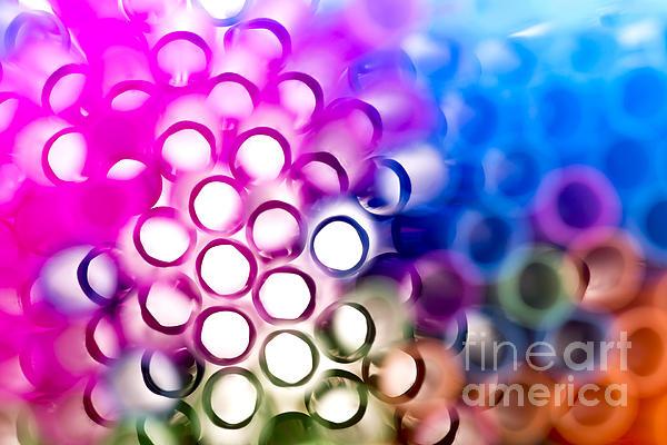 Closeup Photograph - Drinking Straws 1 by Jane Rix