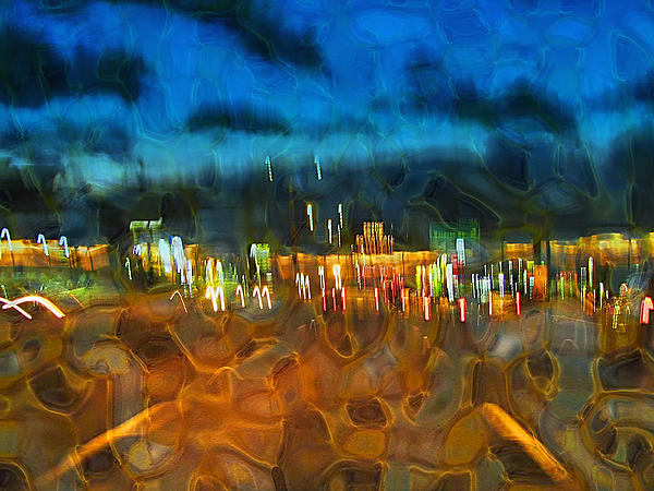 Abstract Digital Art - Drive By Night by Wendy J St Christopher