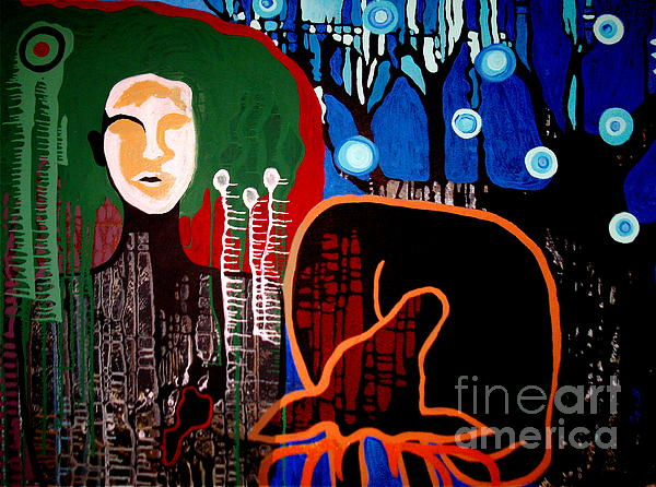 Abstract Woman Painting - Dropped by Amy Sorrell