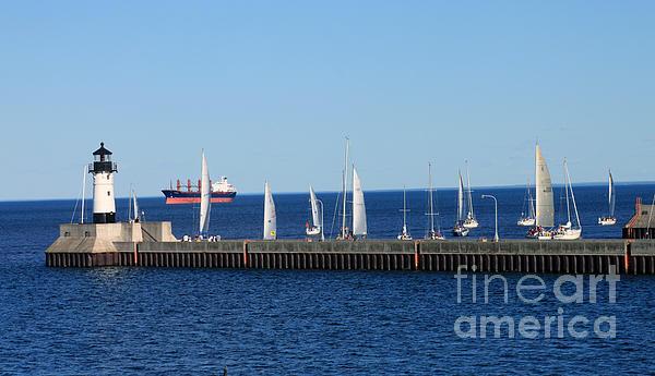 Duluth Photograph - Duluth Mn Harbor by Lori Tordsen