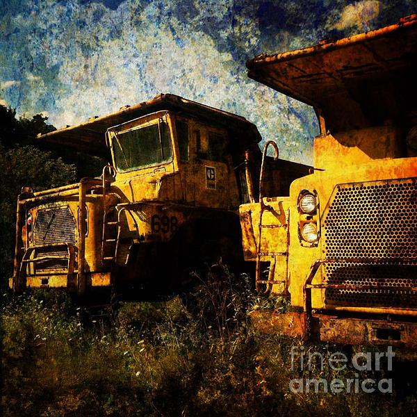 Artwork Digital Art - Dump Trucks by Amy Cicconi