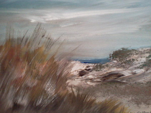 Sand Dunes Painting - Dune Overlook by Joseph Gallant
