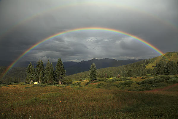 Colorado Photograph - Durango Double Rainbow by Alan Vance Ley