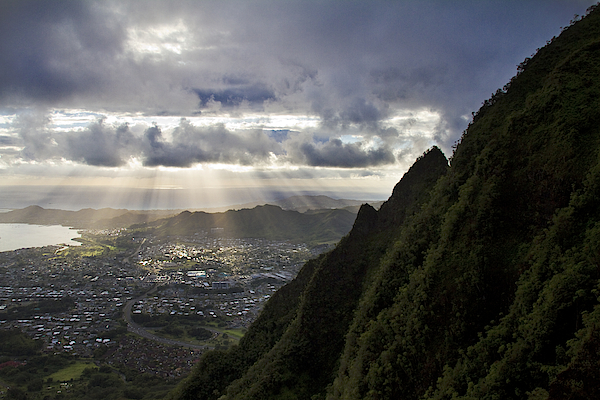 Early Morning Above Kaneohe Photograph by Melinda Podor