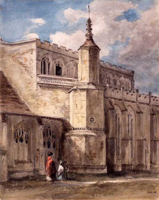Church Drawing - East Bergholt Church, Northside by John Constable