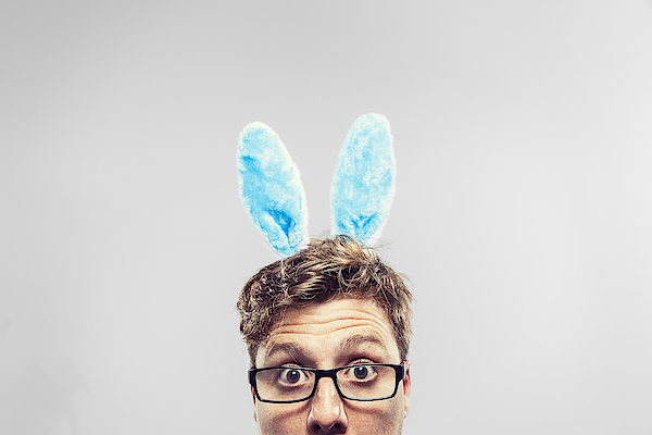 Easter Nerd With Ears On Looking At Camera Photograph by Benstevens