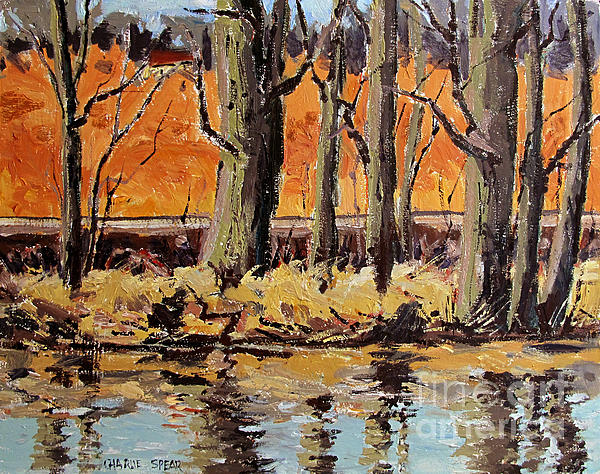 Landscape Painting - Eel River Tow Path by Charlie Spear