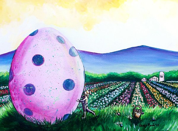Easter Painting - Eggstatic by Shana Rowe Jackson