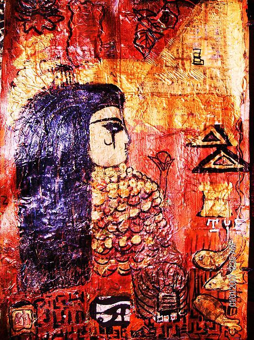 Cleopatra Painting - Egyptian Queen Work In Progress by Anne-Elizabeth Whiteway