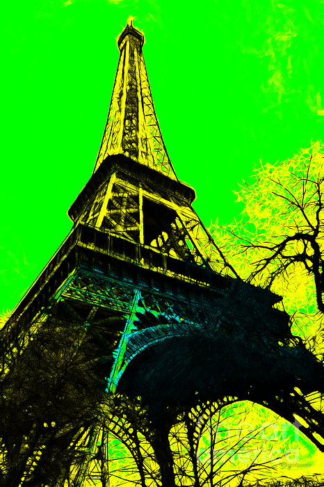 Europe Photograph - Eiffel 20130115v2 by Wingsdomain Art and Photography