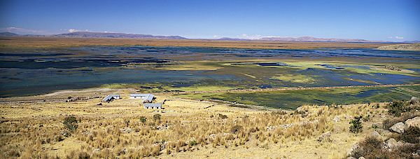 elevated view of Lake Titicaca, Peru, South America Photograph by Gavin Hellier / robertharding