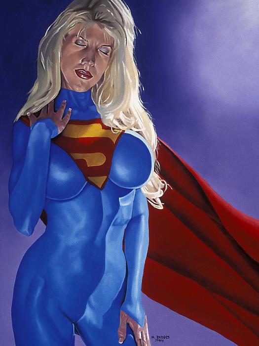 Comic Book Character Art Painting - Else World Supergirl by Michael Bridges