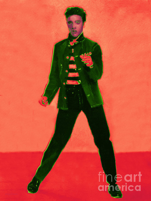Elvis Presley Photograph - Elvis Is In The House 20130215m40 by Wingsdomain Art and Photography