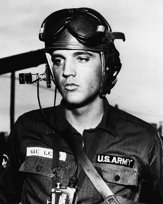 Classic Photograph - Elvis Presley In Military Uniform by Retro Images Archive