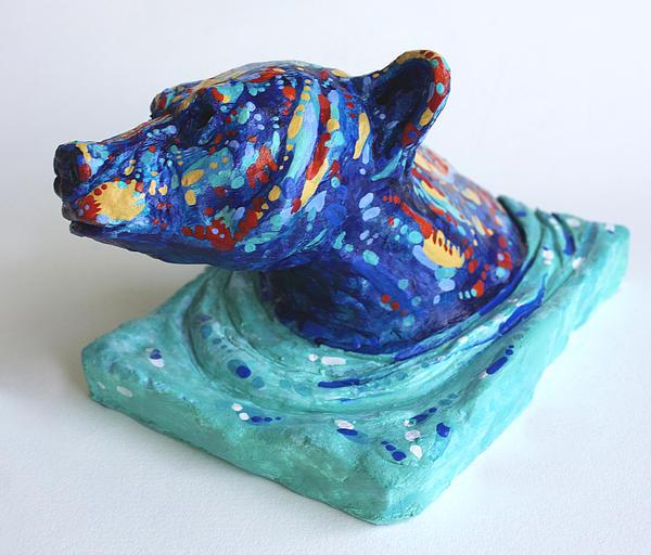 Bear Sculpture - Emerging Bear by Derrick Higgins