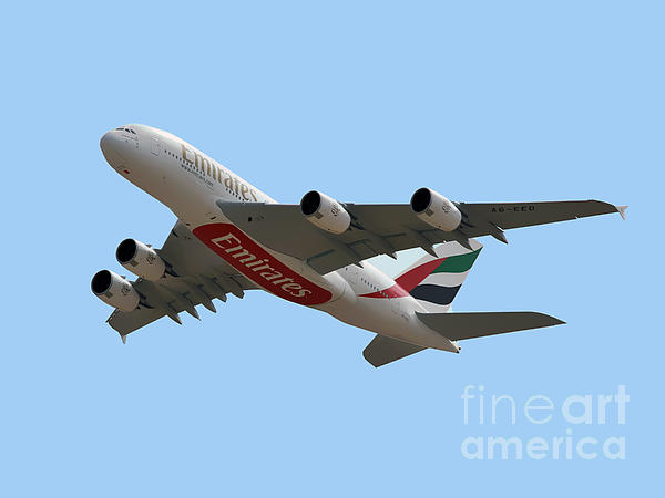 Emirates Photograph - Emirates Airlines Airbus A380-861 by Graham Taylor