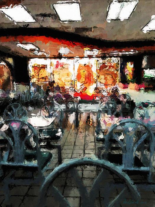 Restaurant Painting - Empty Restaurant by Robert Smith